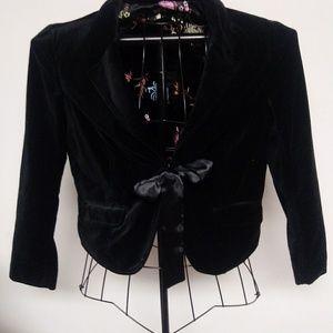 Like new old navy velvet jacket with bow closure